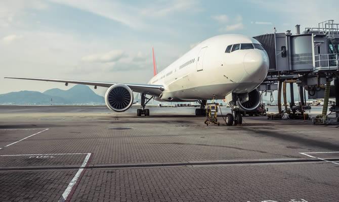airplane at uk airport
