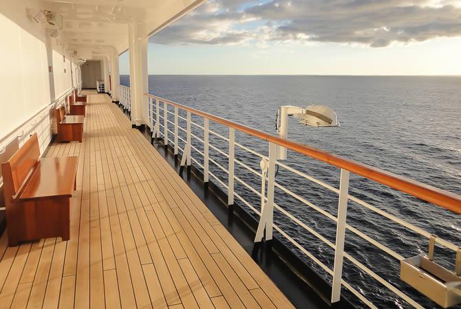 cruise ship in England