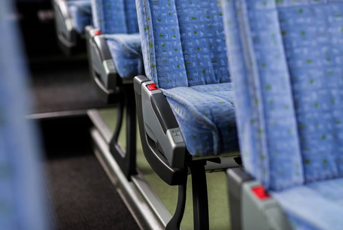 seat in coach or bus