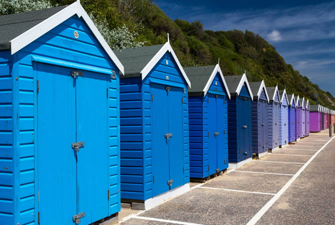 seafront cabins in england uk