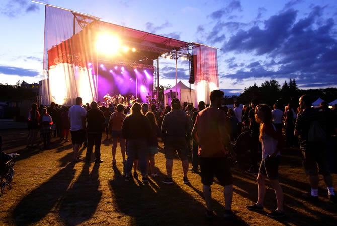 Festival ground in UK