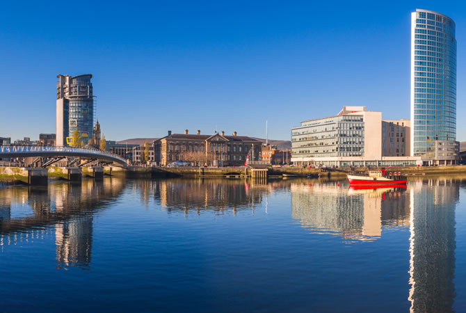 River Lagan, Belfast City, Northern Ireland