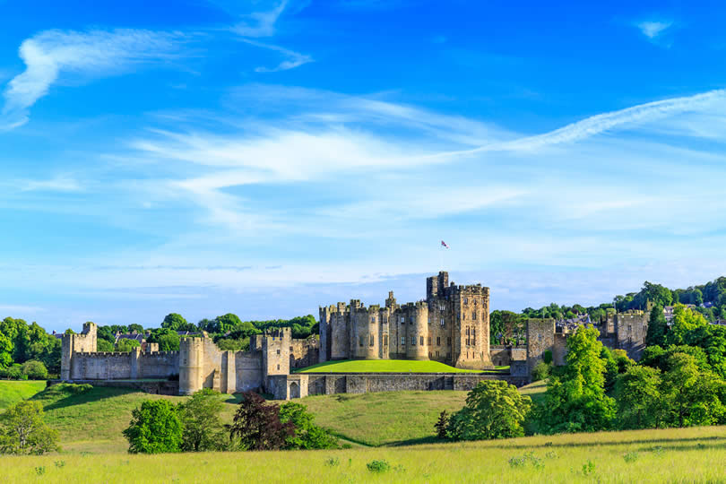 Alnwick Castle in Northumberland UK