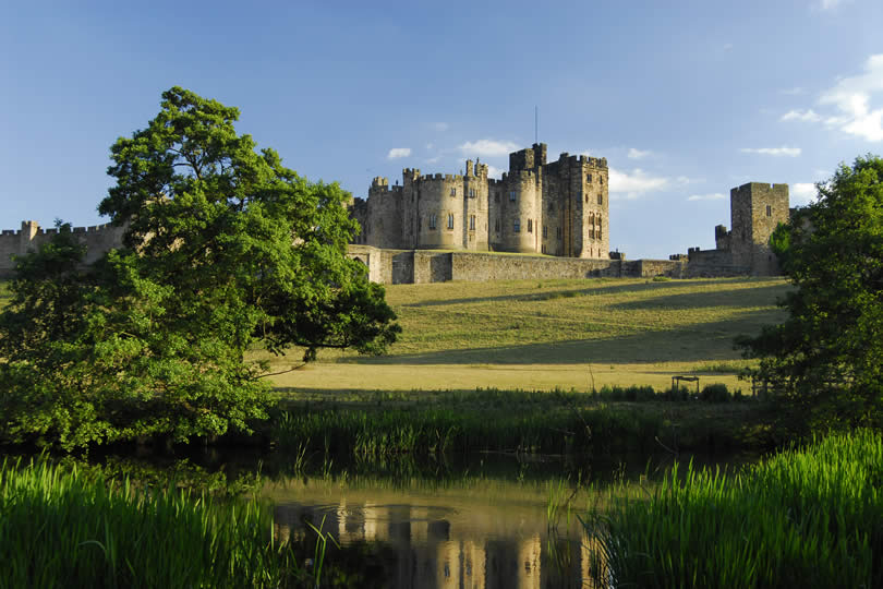 Alnwick Castle in England