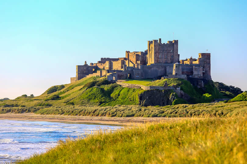 Bamburgh Castle on North East Coast of England