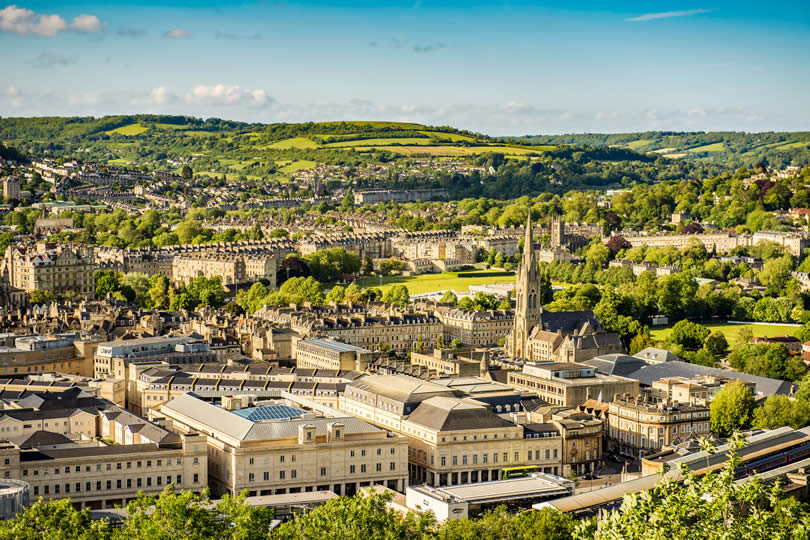 View over Bath city centre from Alexandra Park