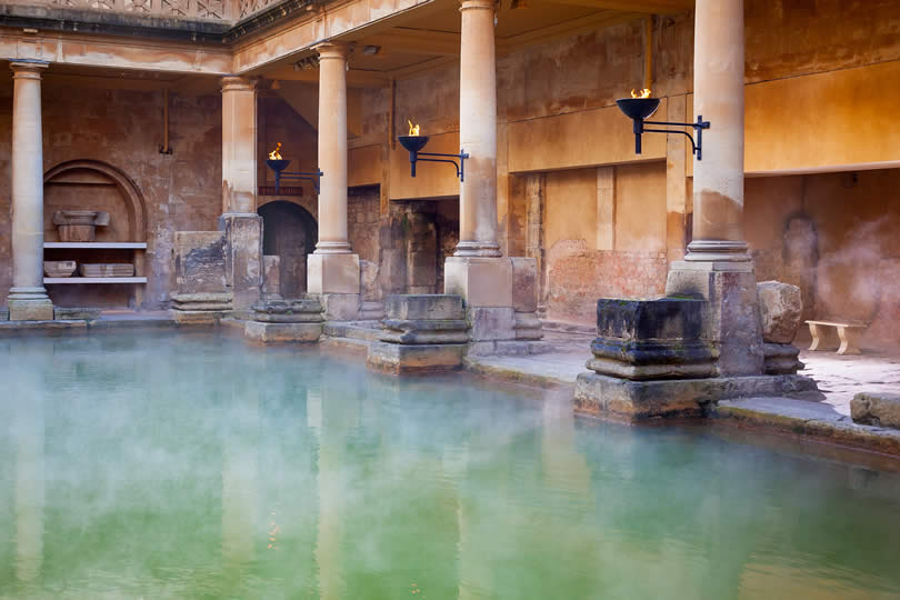 Roman Baths mineral water steam