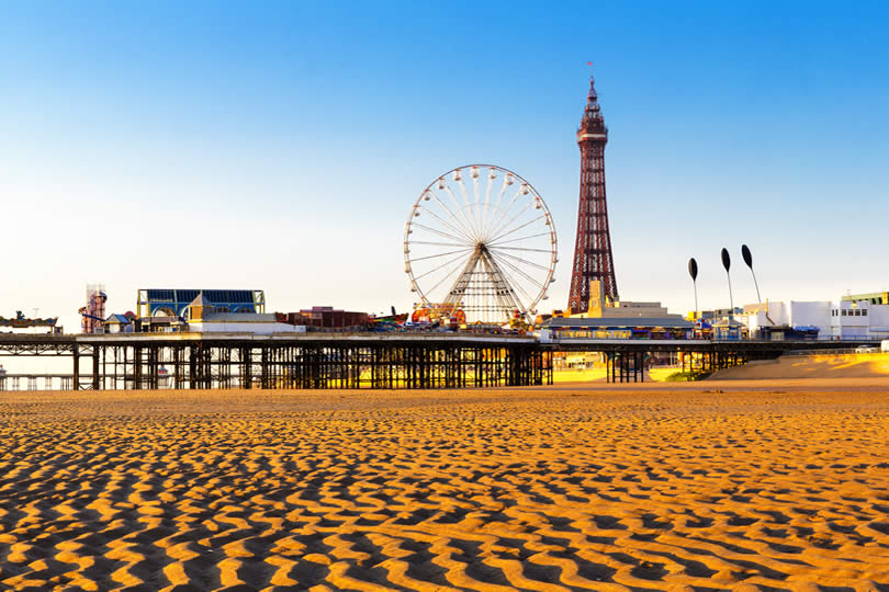 Blackpool Tower and Central Pier Ferris Wheel