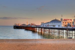 Brighton Pier in England UK
