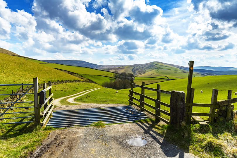 Farm near Buxton and Macclesfield England