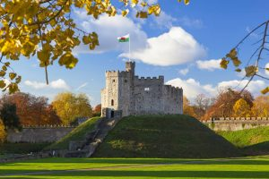 Cardiff Castle in Wales