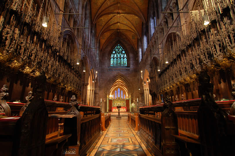Chester UK Cathedral Interior