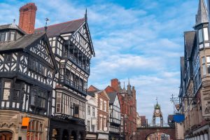 Tudor style buildings in Chester Cheshire in England