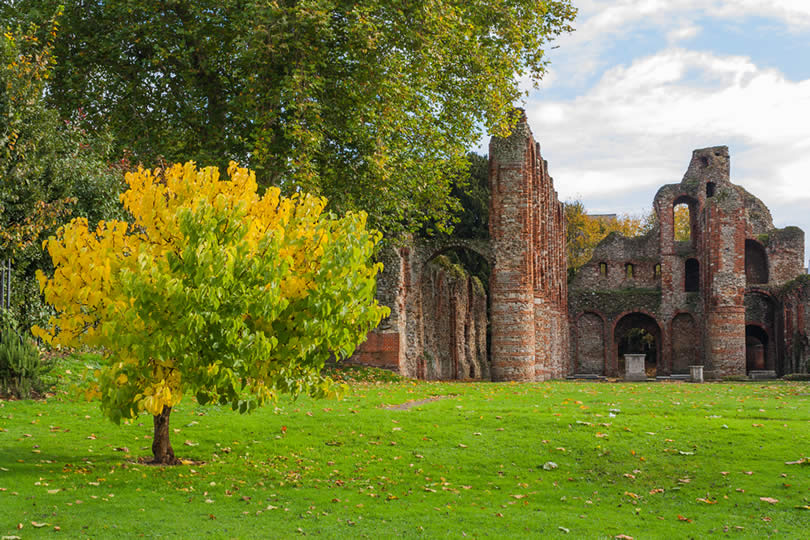 St Botolphs Priory ruins in Colchester UK