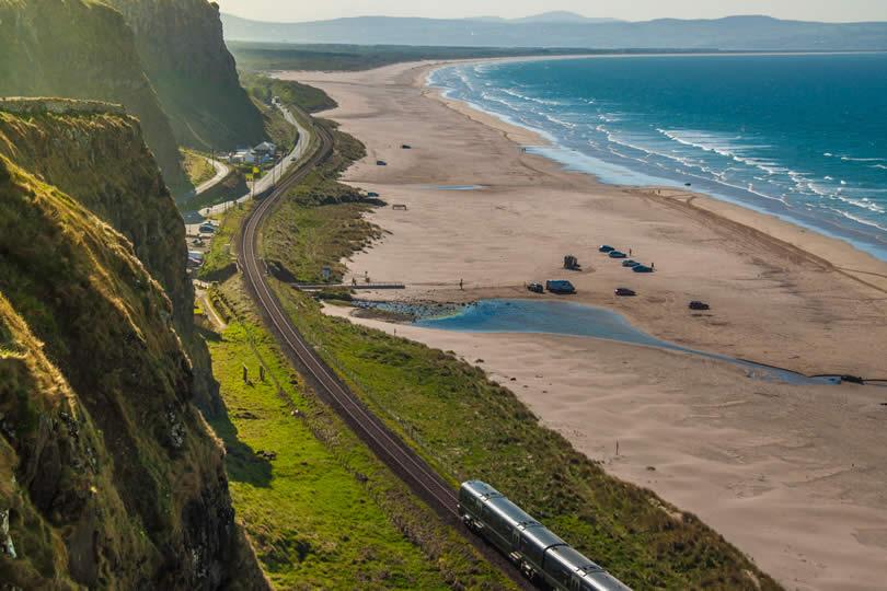 Train journey between Londonderry and Coleraine