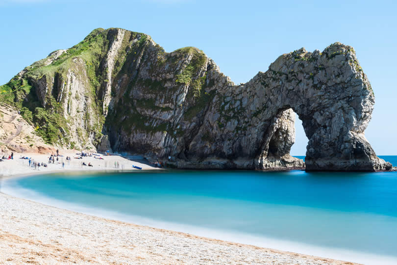 Durdle door Jurrasic Coast in Dorset UK
