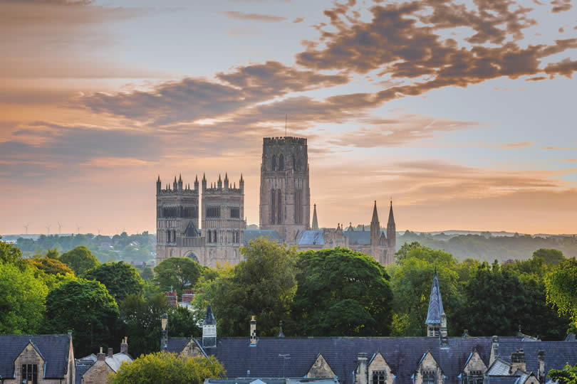 Durham Cathedral at sunset