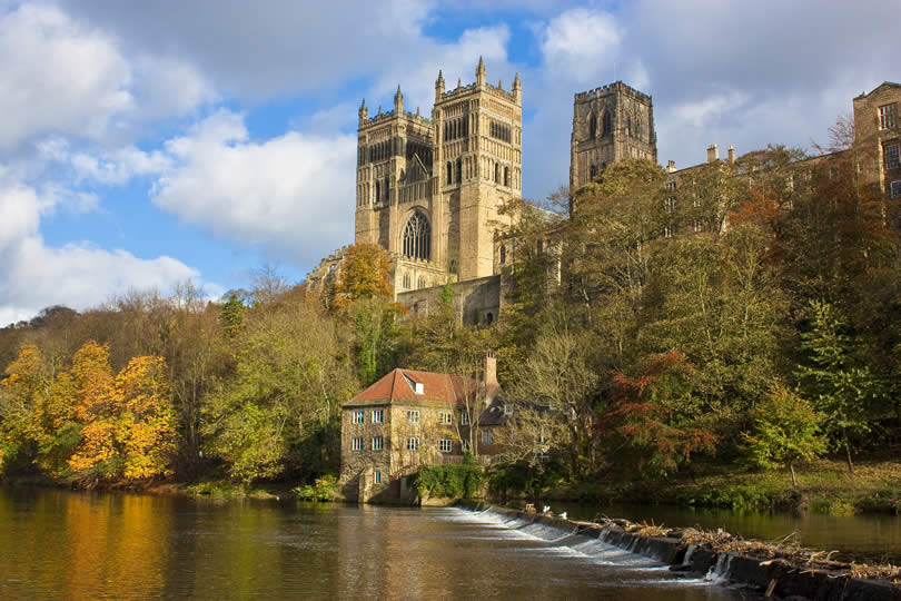 Durham Cathedral and the River Wear in England
