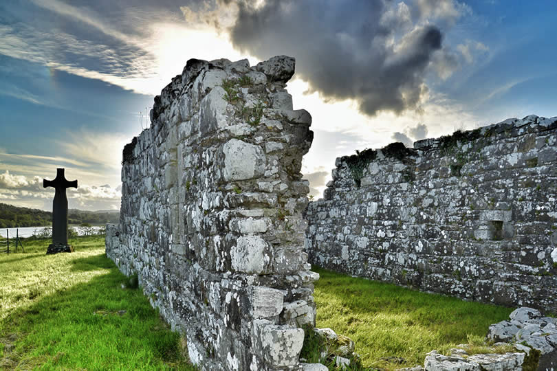 ruined church near Lower Lough Erne