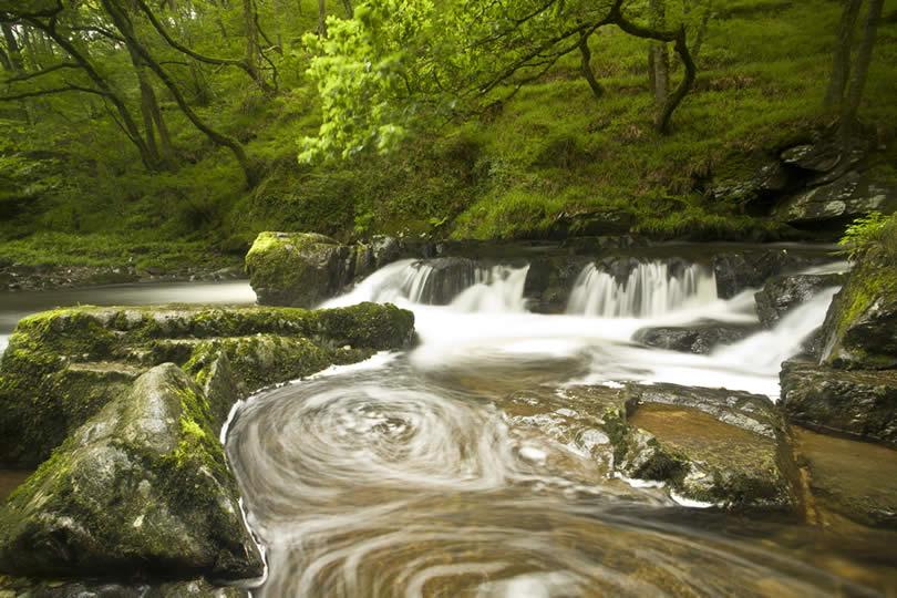 Exmoor National Park cascade Lynmouth