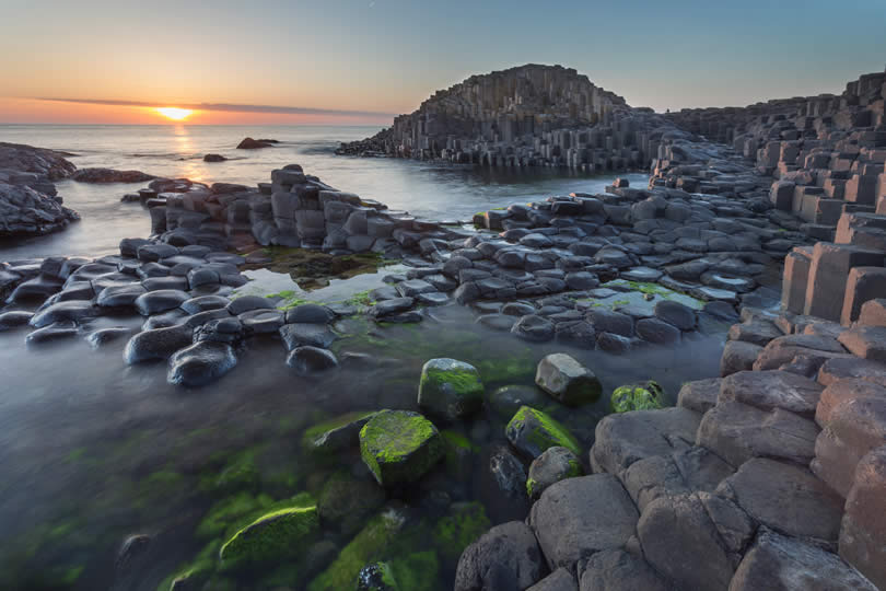 Giant's Causeway Northern Ireland sunset