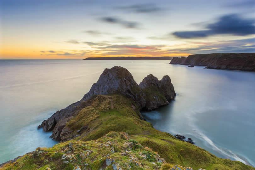 Three Cliffs Bay Gower Peninsula in Wales