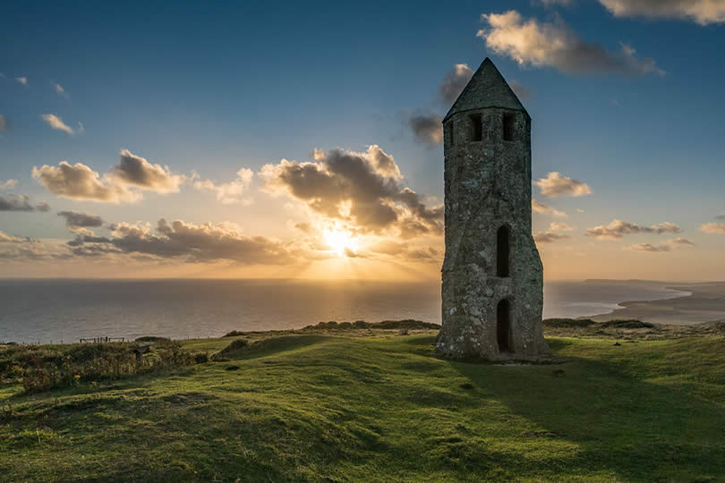 12th Century Lighthouse on the Isle of Wight