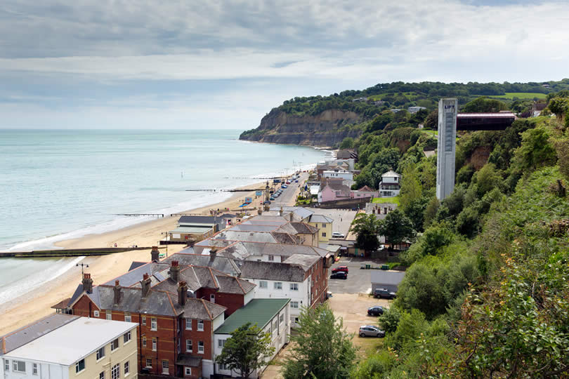 Shanklin town on the Isle of Wight England UK