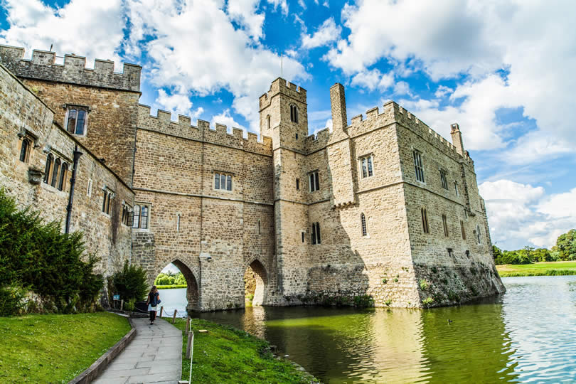 Leeds Castle in Maidstone UK