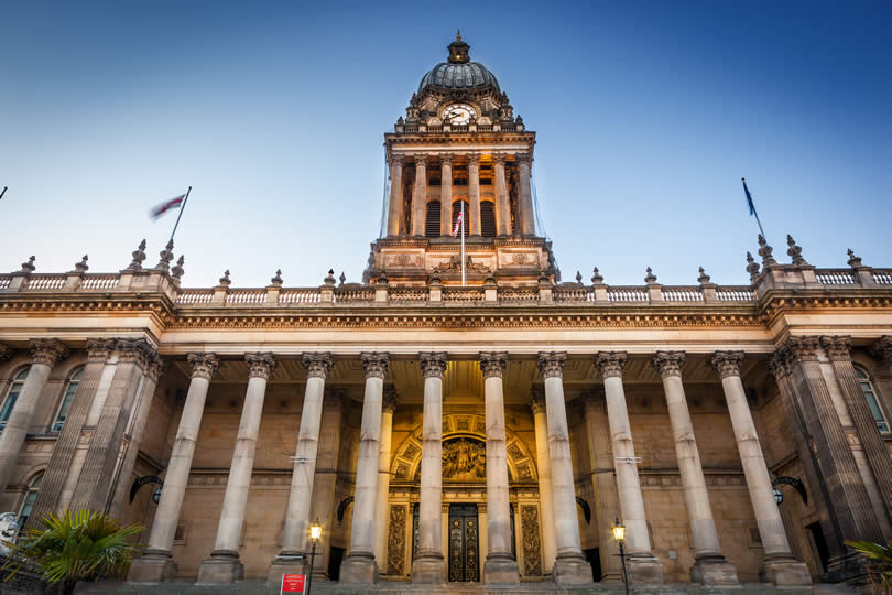 Leeds England city hall