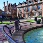 Leicester England town square