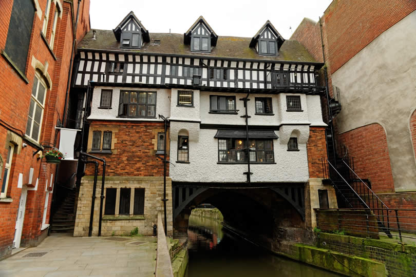 High Bridge and The Glory Hole in Lincoln England
