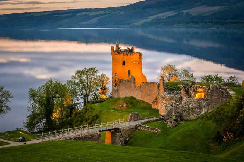 Urquhart Castle near Inverness and Drumnadrochit