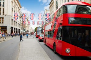 London Oxford Street red buses