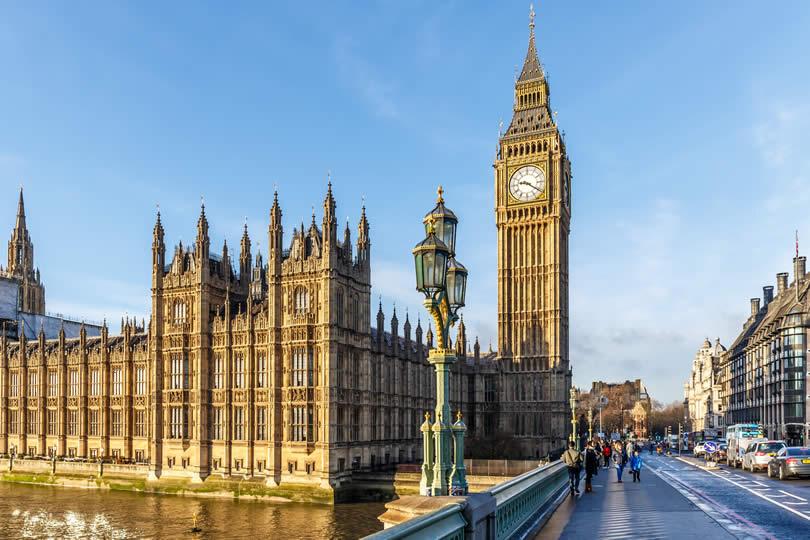 Big ben clock tower in London UK