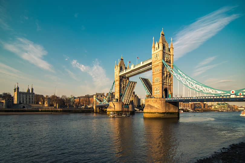 London Tower Bridge and River Thames
