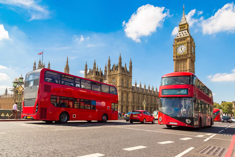 London Westminster Red buses