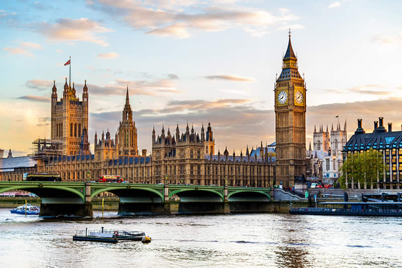 Palace of Westminster and Thames River London