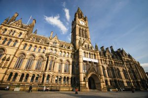 Manchester City Hall with tower