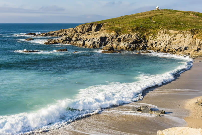 Waves at Fistral Beach near Newquay UK