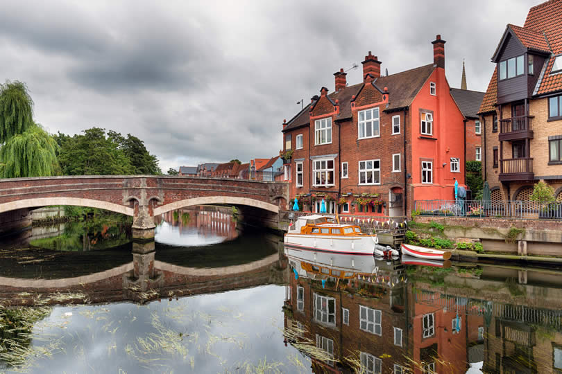 River Yare Bridge in Norwich city centre
