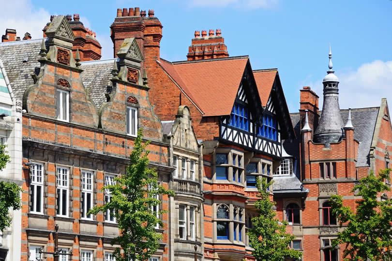 Old Market Square Buildings in Nottingham