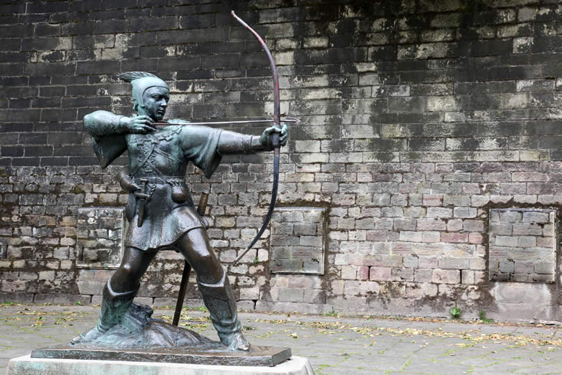Statue Of Robin Hood at Nottingham Castle