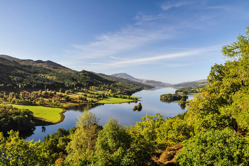 Queen's View at Loch Tummel in Scotland