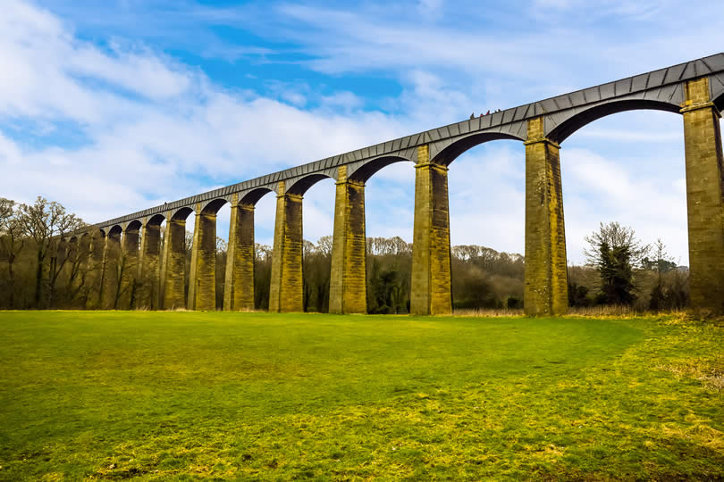 The Pontcysyllte Aqueduct and Canal is in North East Wales