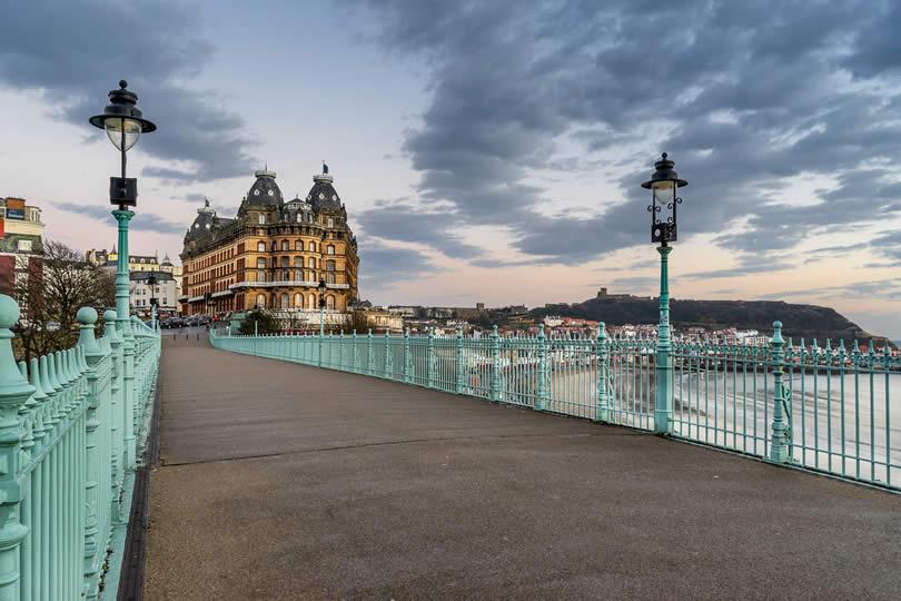 main footbridge in Scarborough England