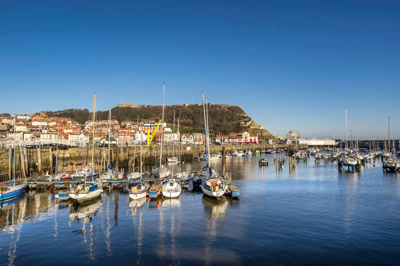 Scarborough harbour view