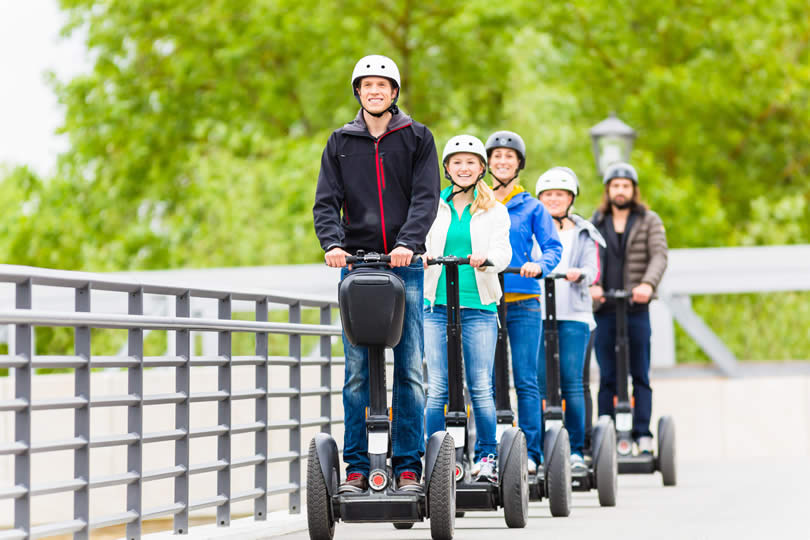 people taking a segway tour in Britain