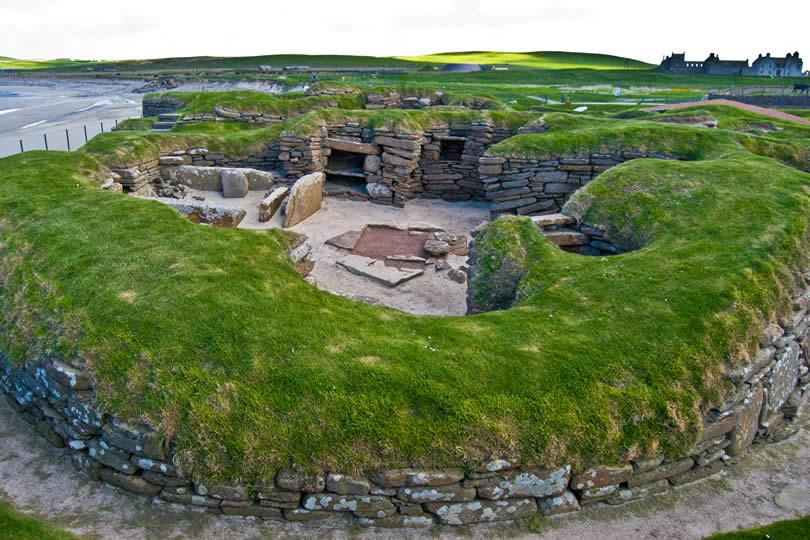 Skara Brae on Orkney Islands Scotland