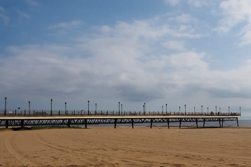 Skegness Pier in England